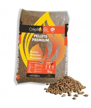 Granulés de bois Crépito® Pellets Premium, palette de 72 sacs (1080 kg)